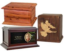 Picking a cremation urn.